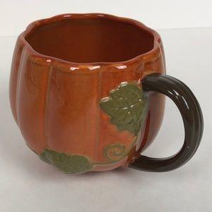 Starbucks Coffee hand painted Pumpkin shaped mug